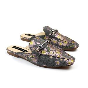 STEVE MADDEN Rilee floral embroidered mules